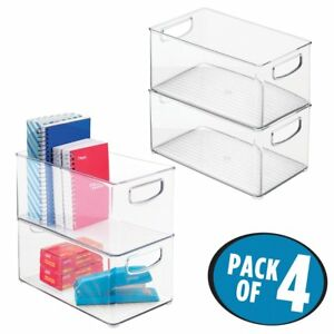 Mdesign Office Organizer Bins For Pens Pencils Note Pads Staples Tape Pack