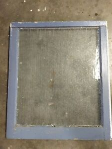 Architectural Salvage Unique Antique Window Sash Frame 25 X 30 Privacy Glass