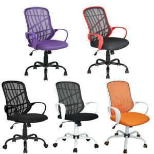 Ergonomic Mid back Mesh Office Swivel Task Chair Computer Chair Multiple Colors