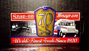 Vintage Snap On Tools 7x4 Foil 1920 1990 70 Years Decal Sticker