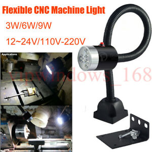 Milling Lathe Led Light 3w 6w 9w Cnc Machine Fixed Base Sewing Bench Work Lamp