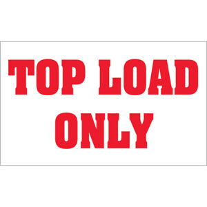 Tape Logic Labels top Load Only 3 X 5 Red white 500 roll Dl1370