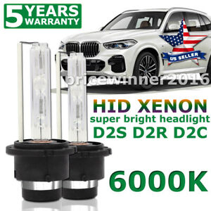 2x 55w D2s D2r D2c Hid Xenon Head Light Bulbs Lamp Low Beam 6000k Diamond White