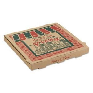 Arvco Corrugated Pizza Boxes 16w X 16d X 1 3 4h Kraft arv9164314