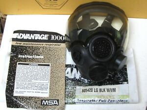 Msa 805420 Advantage 1000 Hycar Rubber Full Face Respirator Large Appears Unused