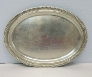 Fisher Sterling Silver Oval Platter Tray 2202 129 4 Grams