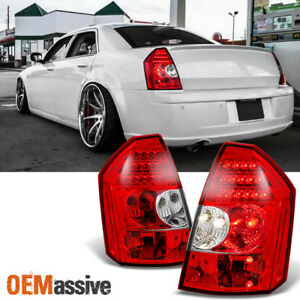 Fit 2005 2007 Chrysler 300 Replacement Left Right Red Clear Led Tail Lights