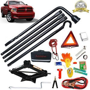 Repair Tire Lug Wrench Tools Scissor Jack Emergency Kit For Dodge Ram 1500