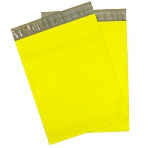 Yellow Poly Mailers 14 5x19 Pack Of 100