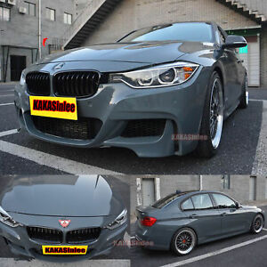 Imported High Glossy Cool Grey Car Paint Change Bright Vinyl Wrap Sticker Ab