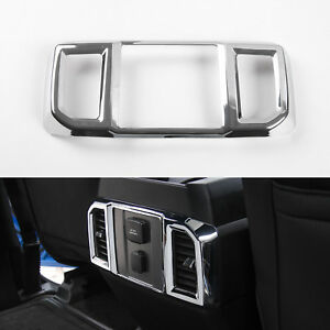 Car Rear Air Conditioning Outlet Vents Trim Cover For Ford F150 2016 2017 Chrome