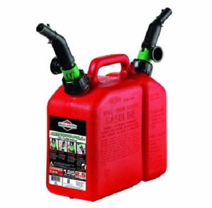 Combination Gas Can 1 1 2 Gallon 1 25 Fuel 0 25 Chain Oil Smart Fill Nozzle New