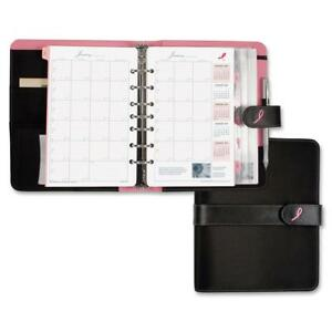 Day Timer Desk Size Pink Ribbon Binder Starter Set Year Weekly Monthly Planner