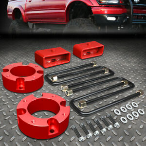 For 2007 2018 Toyota Tundra 2 4wd Red 3 F 2 R Spacers Blocks Leveling Lift Kit