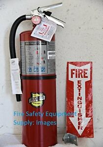 lot Of 2 Buckeye 10 Lb Abc Fire Extinguisher rechargeable Certified tagged