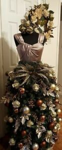 Female Mannequin Torso To Display Christmas Tree Black white Dress Form Mf 88