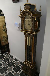 Hand Painted Replica Of Chinoiserie Grandmother Clock Made In Portugal