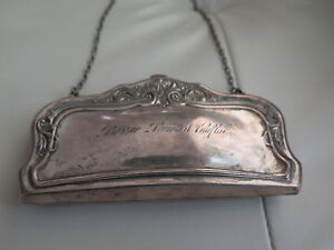 Vintage Sterling Silver Dance Coin Purse