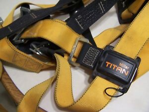Miller Titan Full Body Harness Fall Protection Safety Harness 400lb class A