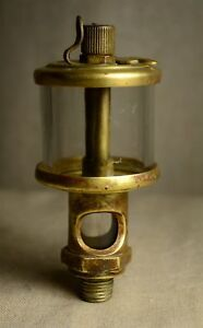 Antique J E Lonergan s Brass Oiler For Hit Miss Gas Engine Patent Phila Pa
