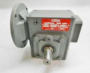 Dayton 4z010 Speed Reducer C face Left right Angle Gear Reducer 0 75 Input Hp
