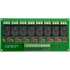 8 Channel 10amp Spdt Power Relay Module Board Dc5v Version X1