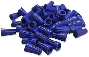 5 000 Wire Connectors Blue Straight Barrel Style Screw on Nuts Ul 5000 pack