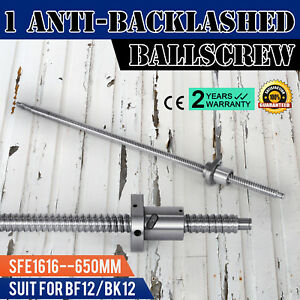 Anti Backlash Ballscrew Sfe1616 650mm Bkbf12 Cnc Set Accurate Sturdy Hot Pro
