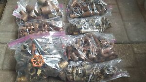 Box Lot Of Copper Brass Plumbing Fittings Nos