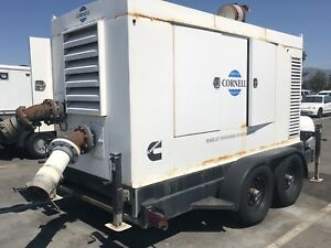1999 Cornell 8 Dewatering Sewer Water Pump Trailer Propane Powered 754 Hours