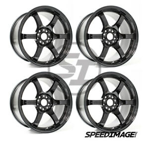 4x Gram Lights 57dr 17x9 38 5x100 Glossy Black Set Of 4 Wheels Frs Brz Wrx