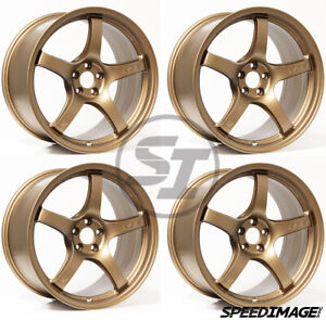 4x Gram Lights 57cr 18x9 5 38 5x100 Matte Bronze Set Of 4 Wheels Brz Wrx Frs