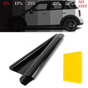 50cm X 6m Black Glass Window Tint Shade Film Vlt 5 15 25 35 Auto Car Roll