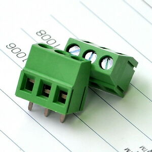 200pcs 3 Poles 5 0mm Pcb Universal Screw Terminal Block