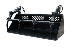 High Capacity Grapple Bucket Skid Steer Loader Attachment