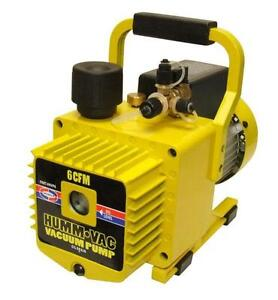Uniweld Vacuum Pump Hvp6 6 0 Cfm Yellow new In Box Humvac 2 Stage 110v 220v