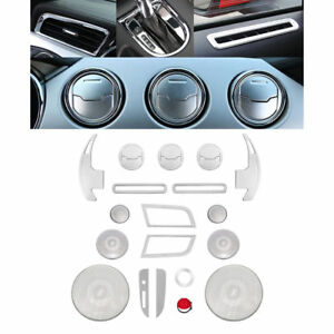 25pcs Aluminum Interior Parts Decoration Trim Covers For Ford Mustang 2015 2018