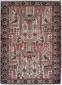 Rugs Decor Hand Knotted Rug 4 X 5 Persian Dense Kashan Rug