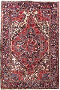 7 X 9 Persian Rug Rugs For Less Hand Knotted Dense Heriz Rug