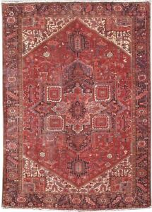 Heriz Rug High Demand Hand Knotted Rug 10 X 14 Soft Persian