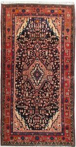 Hamadan Rug Graceful Hand Knotted Rug 4 X 8 Genuine Persian