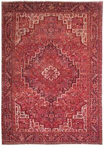 Heriz Rug Delightful Hand Knotted Rug 10 X 14 Wool On Cotton Persian