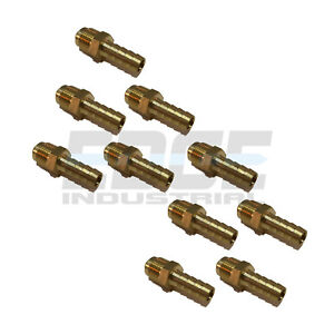 10 Pack 3 8 Hose Id X 3 8 45 Male Flare Straight Brass Fitting Fuel air wog