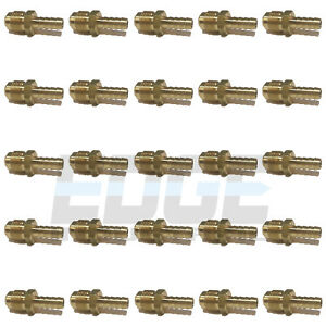 25 Pack 3 8 Hose Id X 1 2 45 Male Flare Straight Brass Fitting Fuel air wog