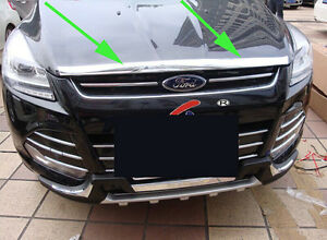 Chrome Front Grille Around Trim For 2013 2016 Ford Escape Kuga Molding New