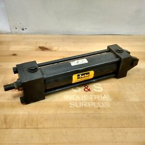 Parker 02 50 Bb2hltv14a 9 000 Hydraulic Cylinder 2 1 2 Bore 9 Stroke Used