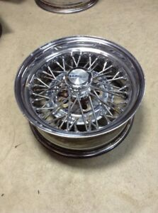 1 14x6 Wire Cragar 50 spoke Old School Hot Rod Lowrider