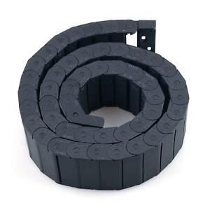 Urbest Black Plastic Flexible Nested Semi Closed Drag Chain Cable Wire Carrier X
