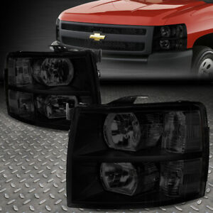 For 07 14 Chevy Silverado Tinted Housing Clear Corner Headlight Replacement Lamp