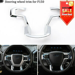 Chrome Steering Wheel Moulding Cover Trim For 15 19 Ford F150 Inner Accessory Mm
